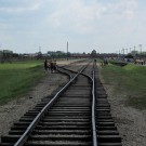 auschwitz train rail line